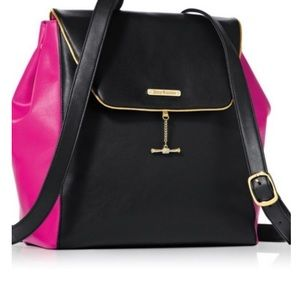 Juicy Counture  Leaher  black and pink  Backpack